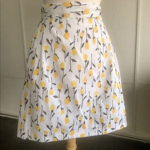 VTG floral tulip skirt with pockets